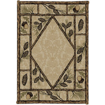 Pinecone Area Rug Brasstown Bald - American Destination | Mayberry Rug | MBRAD3803