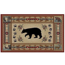 Bear Area Rug Woodlands - Hearthside Collection | Mayberry Rug