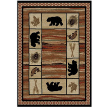 Bear Area Rug Vogel - Hearthside Collection | Mayberry Rug | MBRHS7463