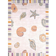 Shells Starfish and Sand Area Rug