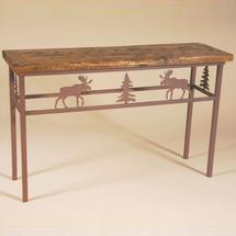 Moose Barn Wood Sofa Table | Colorado Dallas | CDSTBW101310