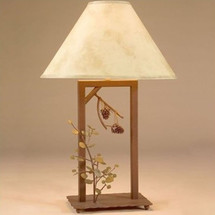 Aspen & Pinecone Fortress Table Lamp | Colorado Dallas | CDTLF0103SH2158