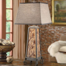 Acorn Table Lamp Autumn's Light | Crestview Collection | CVCCIAUP471