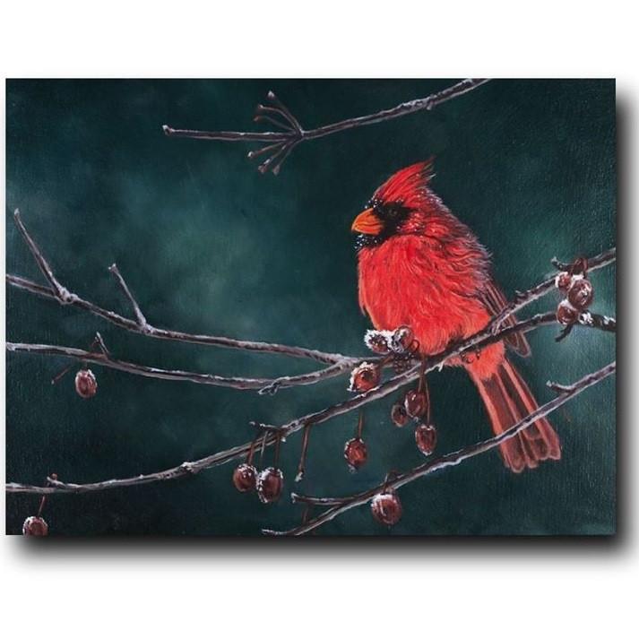 Cardinal Print Snow Bird Gary Johnson