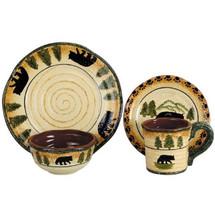 Bear Dinnerware 16 Pieces (4 pl. sets)  | HiEnd Accents | HMDI1810