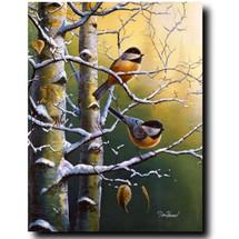 "Chickadee Print ""Winter Refuge""   Jim Hansel   JHwintrefugechick"