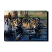 "Wolf Print ""Shallow Backwaters"" 