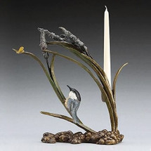 Catch Ya Later Bronze Candle Holder | Mark Hopkins | mhs72013