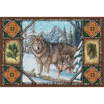 Gray Wolf Lodge Tapestry Placemat Set | Pure Country | PC1099PM