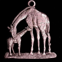 Giraffe Pewter Ornament | Andy Schumann | SCHMC122102