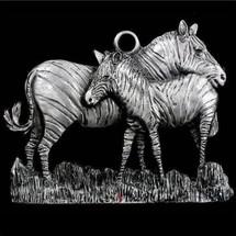Zebra Pewter Ornament | Andy Schumann | SCHMC122104