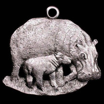 Hippo Pewter Ornament | Andy Schumann | SCHMC122122