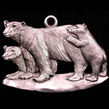 Polar Bear Pewter Ornament   Andy Schumann   SCHMC122127