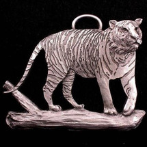Tiger Pewter Ornament | Andy Schumann | SCHMC122128