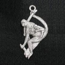 Spider Monkey Pewter Ornament | Andy Schumann | SCHMC122132