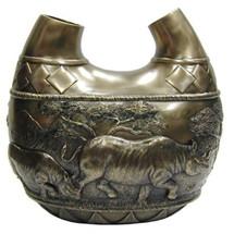 Rhino Safari Double Vase | Unicorn Studios | USIWU71496V1