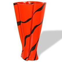 Orange Zebra Stripe Art Glass Vase | WOM-GD258078
