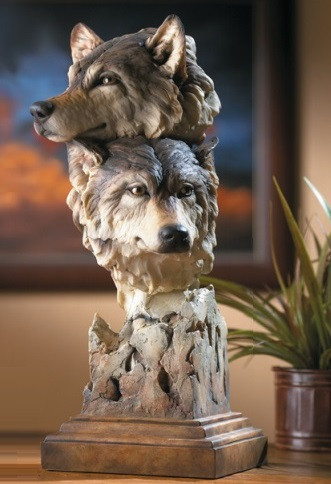 Wolf Kindred Sculpture Stephen Herrero