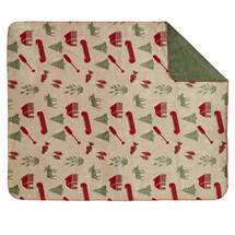 Moose Camp Microplush Throw Blanket | Denali | DHC16106872-sage