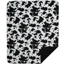 Cowhide Microplush Throw Blanket | Denali | DHCCOW-blk