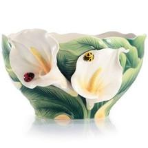 Happy Reunion Calla Lily Porcelain Salad Bowl | FZ03007 | Franz Porcelain Collection