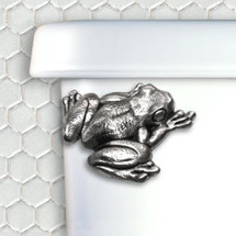 Frog Pewter Toilet Flush Handle | Functional Fine Art