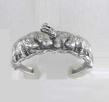 Hippo Sterling Silver Bracelet | Kabana Jewelry
