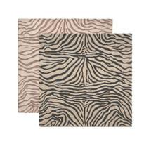 Zebra Print Square Area Rug | Trans Ocean | TOGRVLS8203348