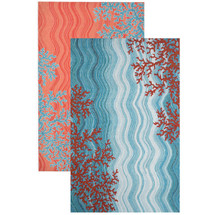 Coral Reef Indoor Outdoor Area Rug 5' x 8'