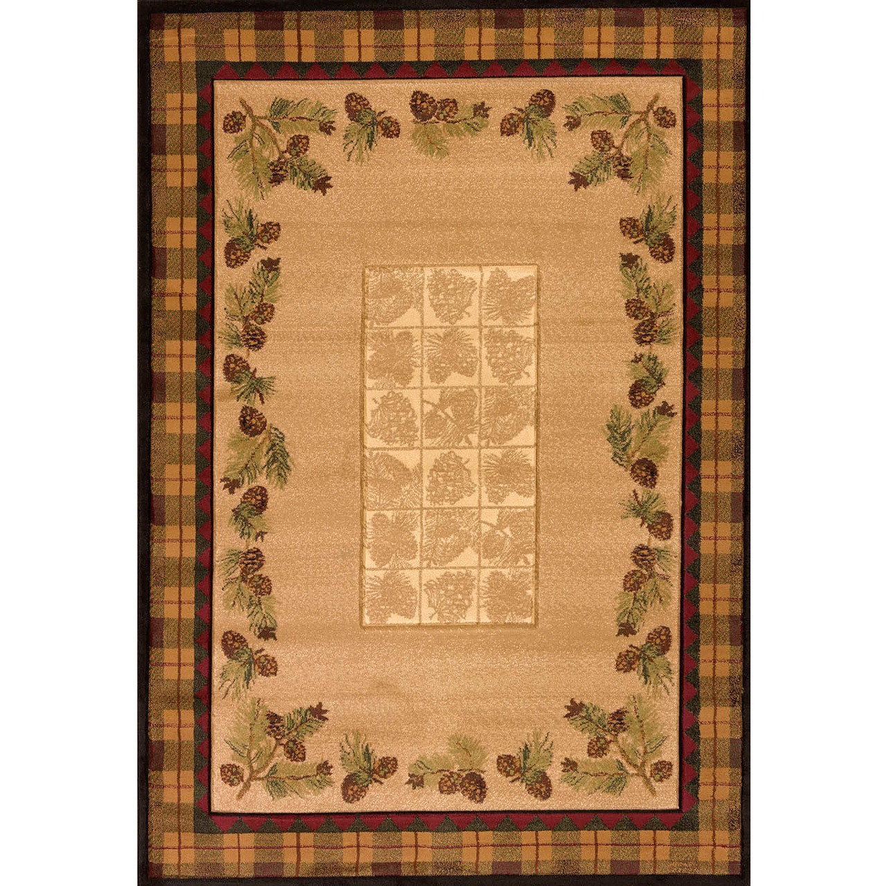Pinecone Rug Winters Pine Toffee Area Decor