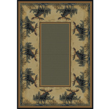 Northwood Moose Area Rug | United Weavers