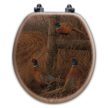 "Pheasants Toilet Seat ""Abandoned Fenceline"" 
