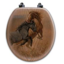 "Horse Toilet Seat ""Challenge"" | Wood Graphixs | WGICHAL-R"