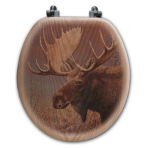 Moose Toilet Seat | Wood Graphixs | WGICM-R