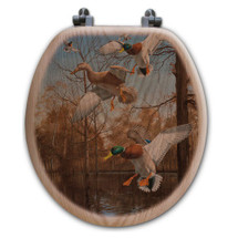 "Duck Toilet Seat ""Greenhead Haven"" 