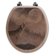 "Wolf Toilet Seat ""Kindred Spirit"" 