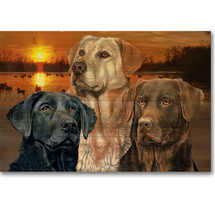 Lab Trio Wood Wall Art | Wood Graphixs | WGILABT2416