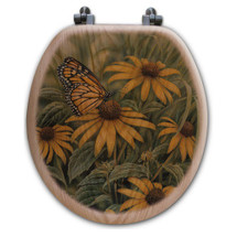 Monarch Butterfly Toilet Seat | Wood Graphixs | WGIMB-R-OAK