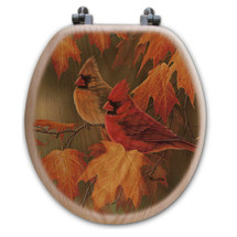 Cardinal Maple Leaves Toilet Seat | Wood Graphixs