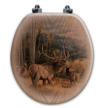 "Elk Toilet Seat ""Meadow Music"" 
