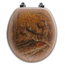 "Deer Toilet Seat ""Maple Rush"" 