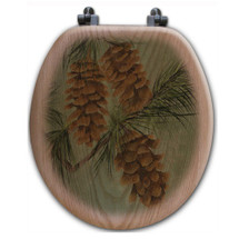 Pinecone Toilet Seat | Wood Graphixs | WGIPC-R