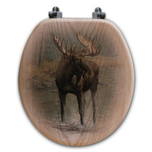 "Moose Toilet Seat ""Quiet Water"" 