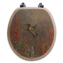 "Hummingbird Toilet Seat ""Summer Hummer"" 