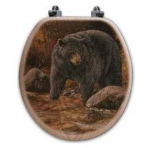 "Bear Toilet Seat ""at the Stream"" 
