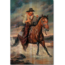 "Horse Wood Wall Art ""The Crossing"" | Wood Graphixs | WGITCR2416"