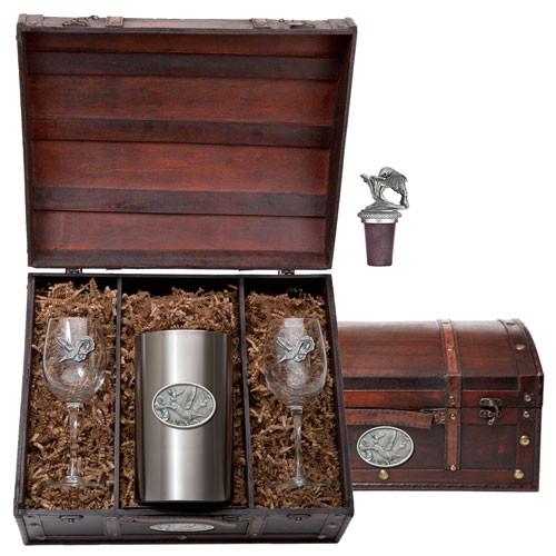 Hummingbird Wine Chest Set | Heritage Pewter | HPIWSC134