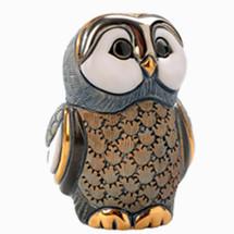 Blue Tawny Owl Baby Figurine | De Rosa | Rinconada | DERF328A