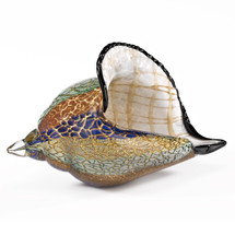 Conch Shell Art Glass Sculpture