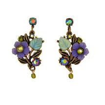 Flower and Leaves Post Earrings | La Contessa Jewelry | LCER9220